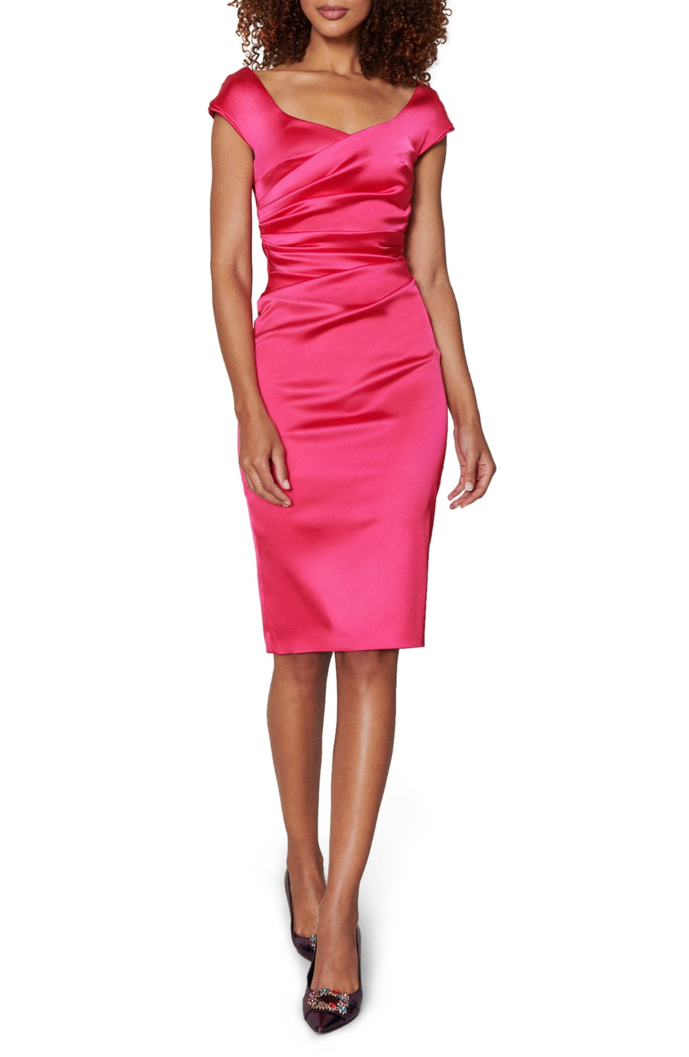 Talbot Runhof Stretch Satin Duchesse Cocktail Dress We Select Dresses In 2020 Silky Dress Dresses Select Dress [ 1533 x 1000 Pixel ]