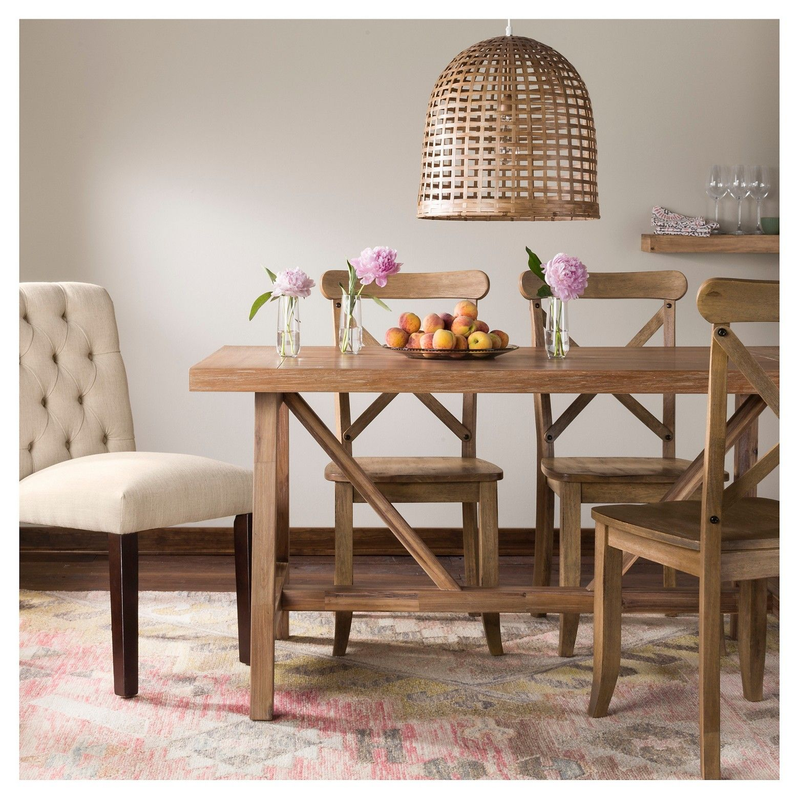 The Wheaton Farmhouse Trestle Dining Table From Threshold Is A Gorgeous Creation In Wood That Will