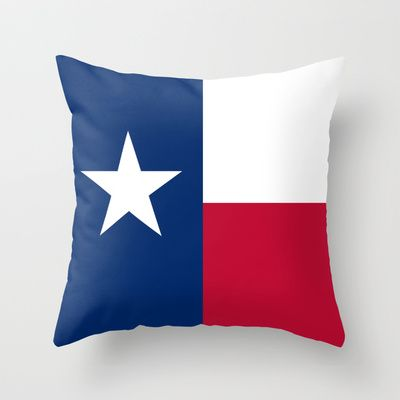 """The State flag of Texas - The """"Lone Star Flag"""" of the """"Lone Star State"""" Authentic Version Throw Pillow by LonestarDesigns2020 - Flags Designs + - $20.00"""