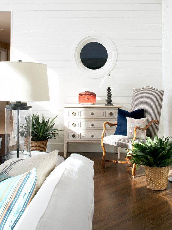 Marblehead Residence   Elms Interior Design   Living Room   White Finished  Wall With Antique Furniture