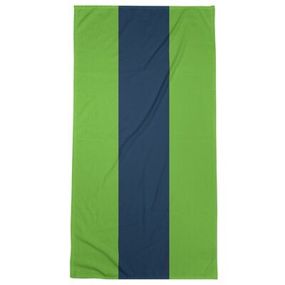 East Urban Home Seattle Throwback Football Stripes Bath Towel