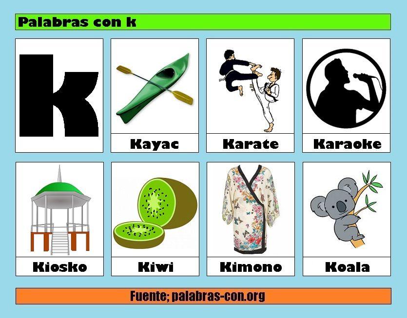 Palabras Con K Palabras Con K Letras Del Abecedario Alfabeto Para Ninos