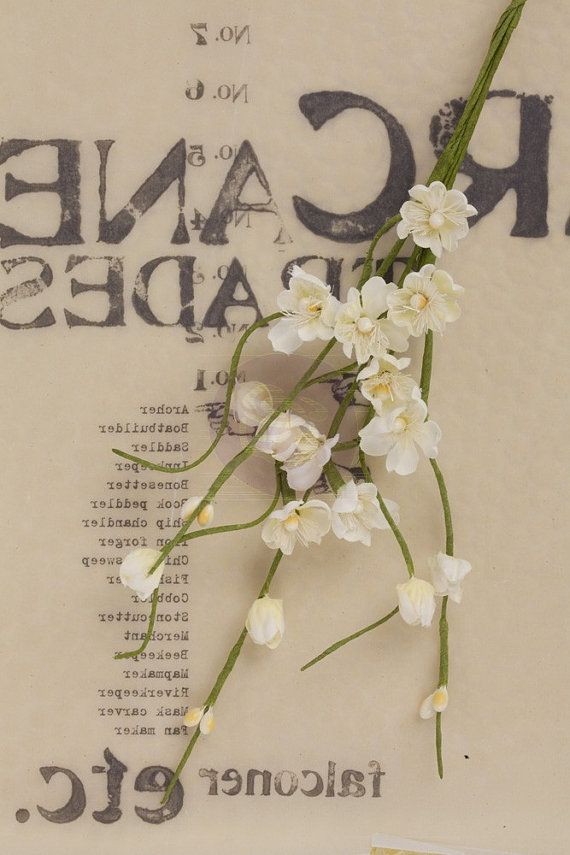 Prima  Solid Flower Vine  White 564490 by DiscountPaperCrafts, $2.89