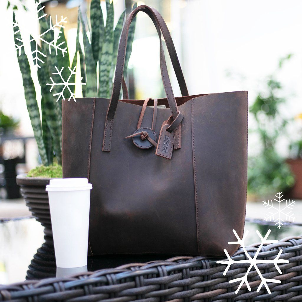 51b5416c35 Vintage Glove Leather Tote - Dark Chocolate - PRE-ORDER - Ship Date ...