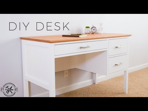 Learn How to Build a Desk with Drawers! This wooden desk