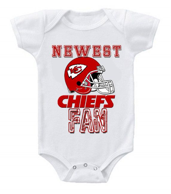 NEW Football Baby Bodysuits Creeper NFL Kansas City Chiefs  2  59a1128d5