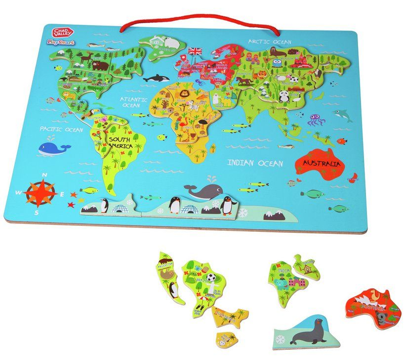 Buy chad valley playsmart magnetic world map 2 for 15 pounds on buy chad valley playsmart magnetic world map 2 for 15 pounds on toys argos gumiabroncs Choice Image