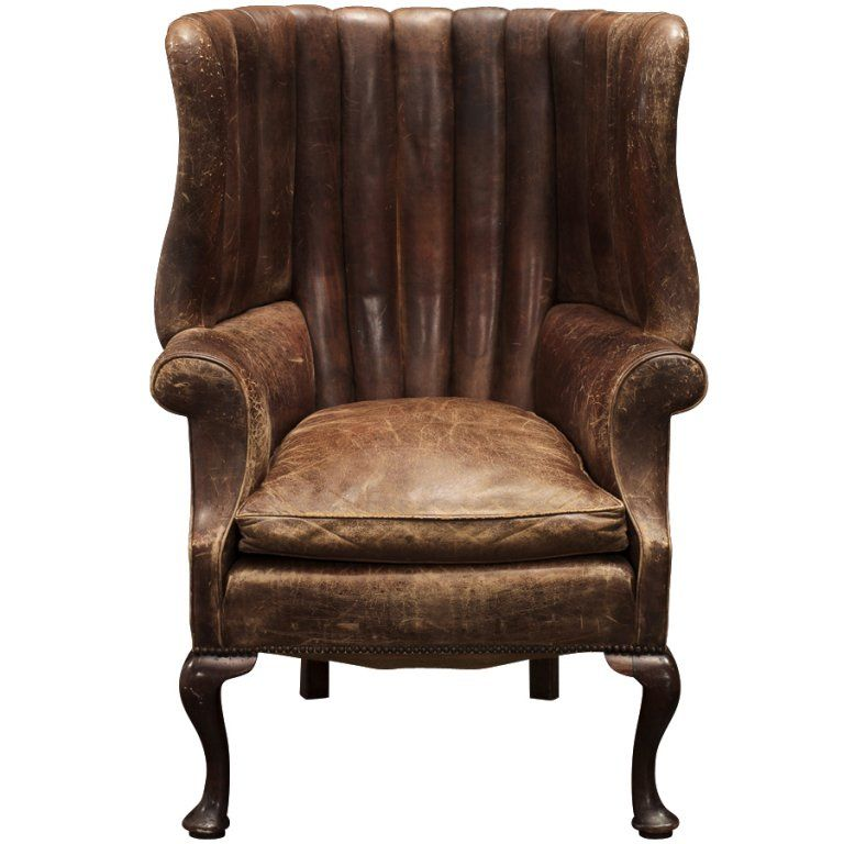 English leather wingback vintage wingback chair leather