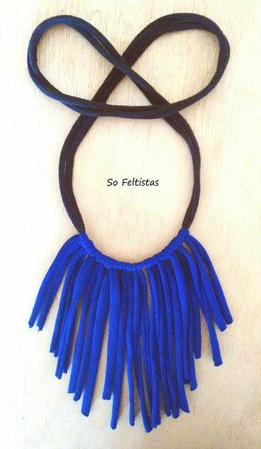 So Feltistas, Handmade Cotton Necklace.