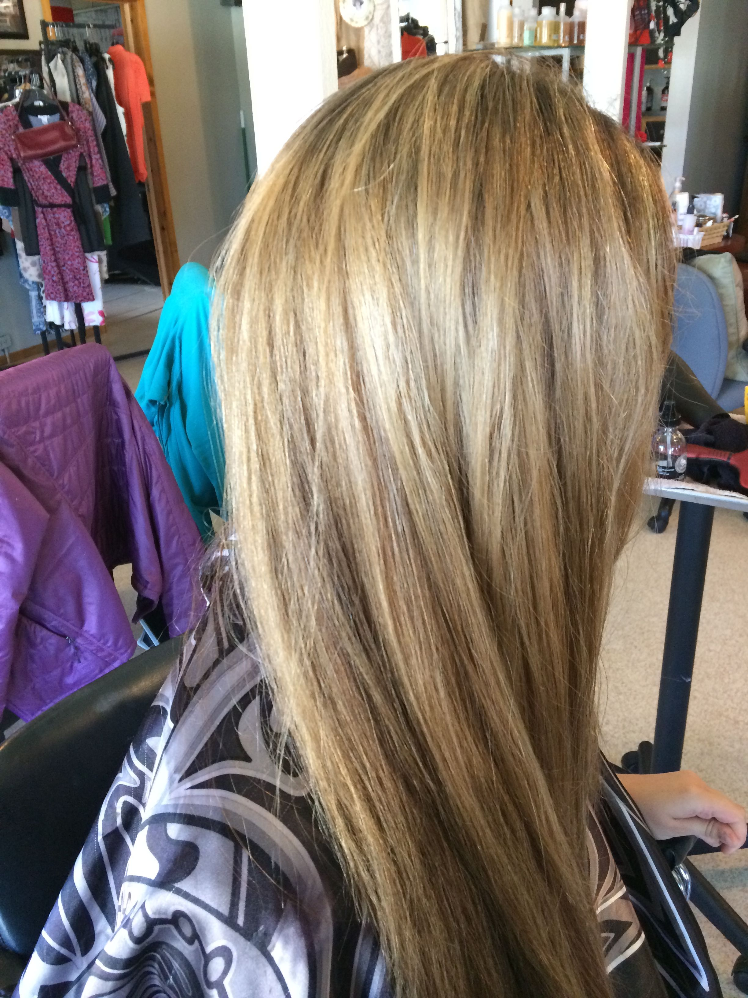 Summer Balayage 2015 Took current outgrown hair with previous