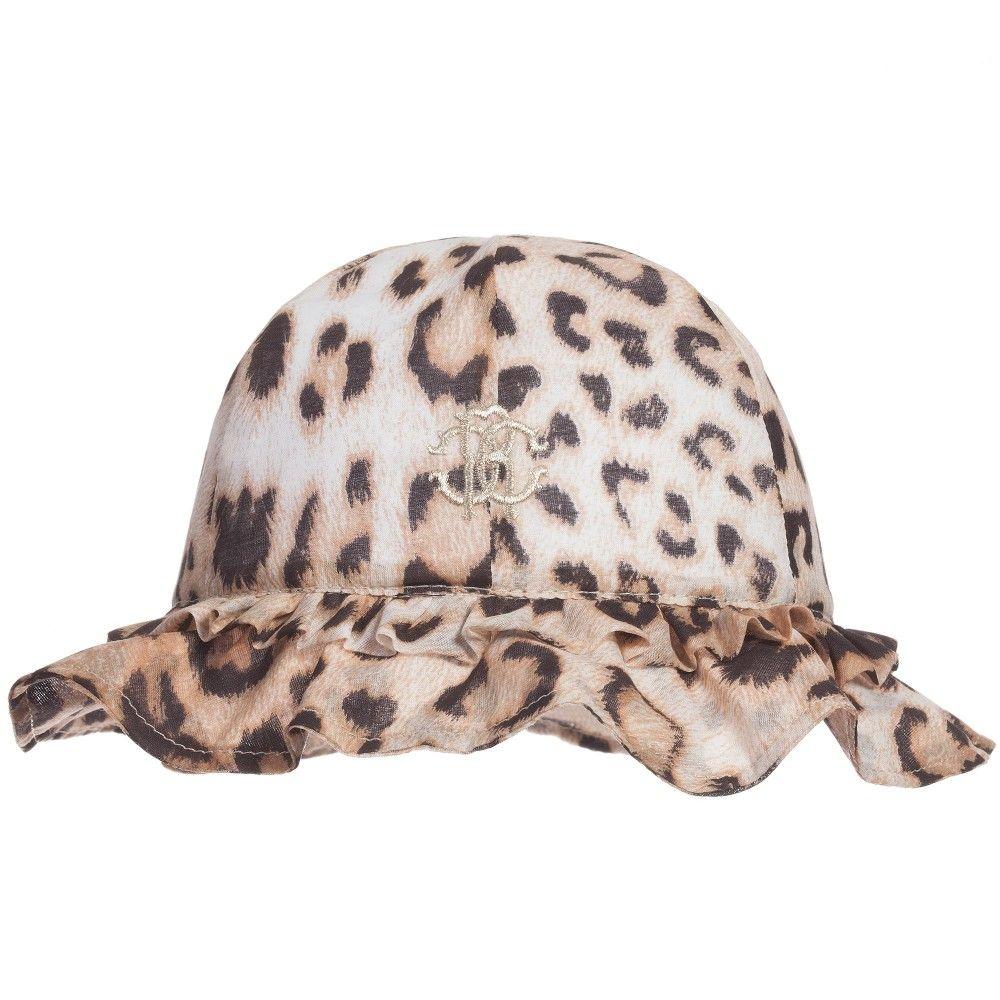 f0243488619c Roberto Cavalli - Baby Girls 'Brown Leopard' Sun Hat | Childrensalon ...