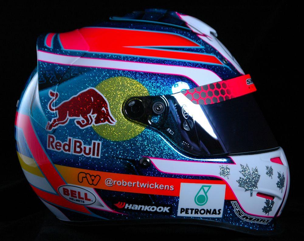 Karting helmet for Robert Wickens.