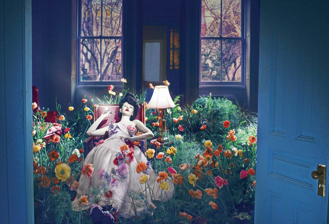 Mia Goth In New Garden Variety Edit For Vogue Us April Issue Dark Floral Vogue Us Vogue Covers