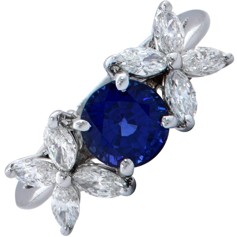 Tiffany & Co. Victoria Sapphire and Diamond Ring Round