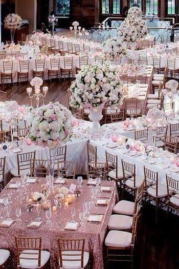 Une disposition de table pratique mariage wedding wedding decorations reception table - Disposition table mariage ...