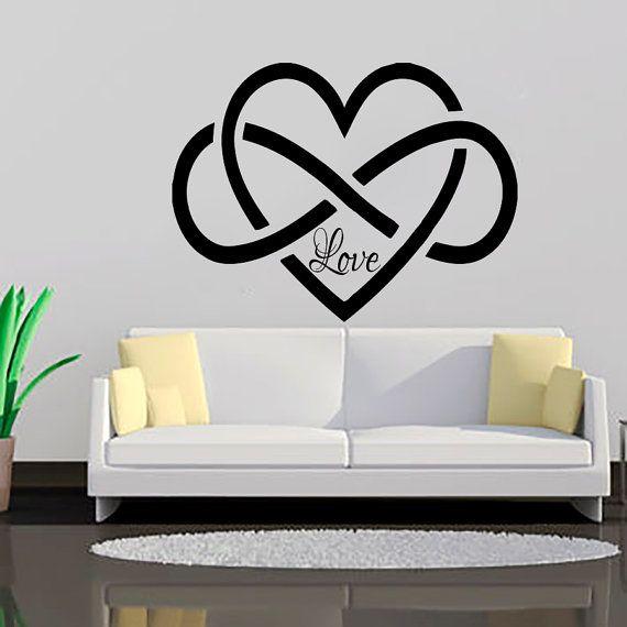 Infinity Symbol Love Wall Decal Bedroom Vinyl Stickers Decals Home