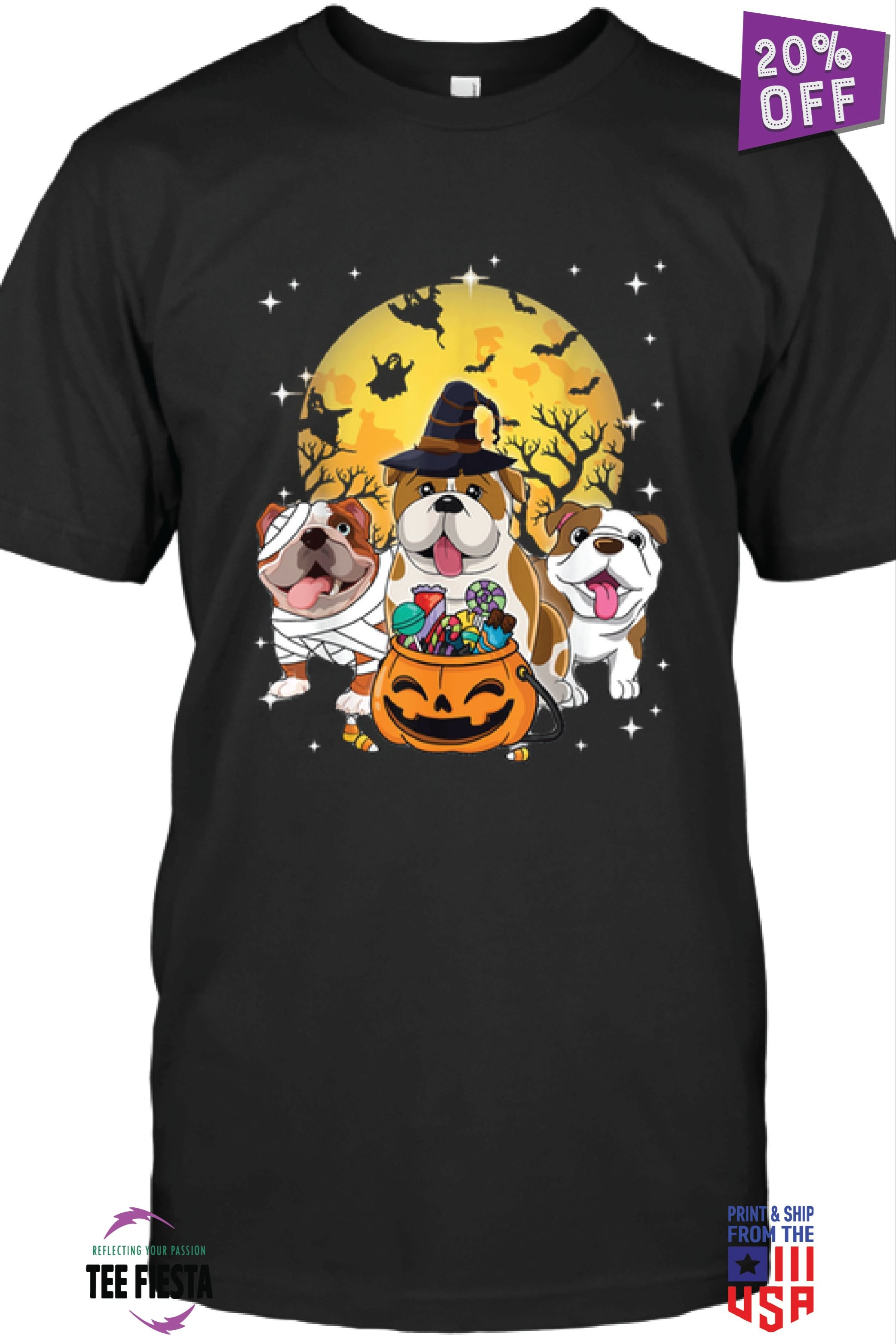 ENGLISH BULLDOG | FUNNY HALLOWEEN UNISEX TEES | GET 20% OFF | LIMITED TIME OFFER #funnybulldog