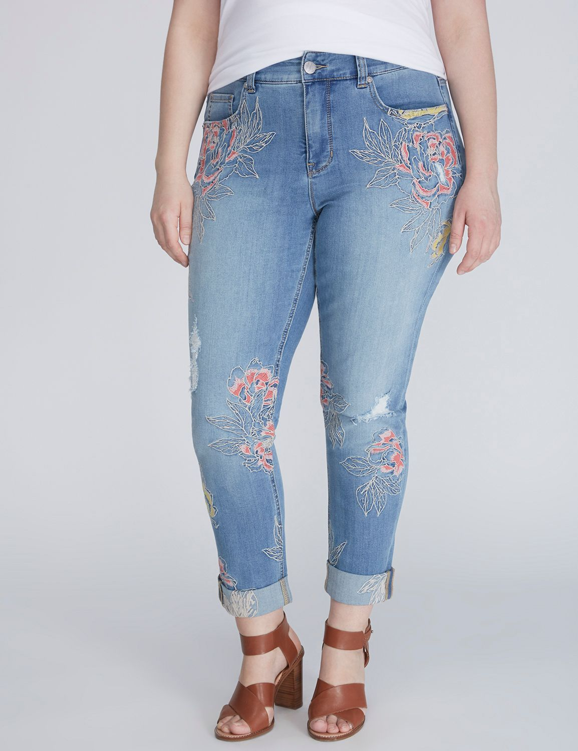 33c762afa4d Embroidered Skinny Jean by Melissa McCarthy Seven7