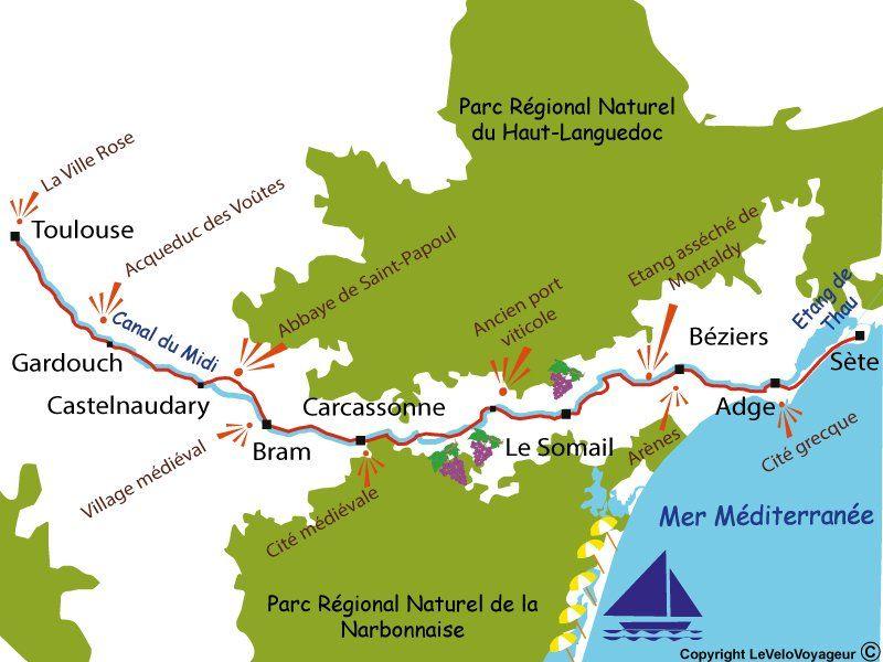 Le Canal Du Midi A Velo De Toulouse A Sete Le Velo Voyageur Le