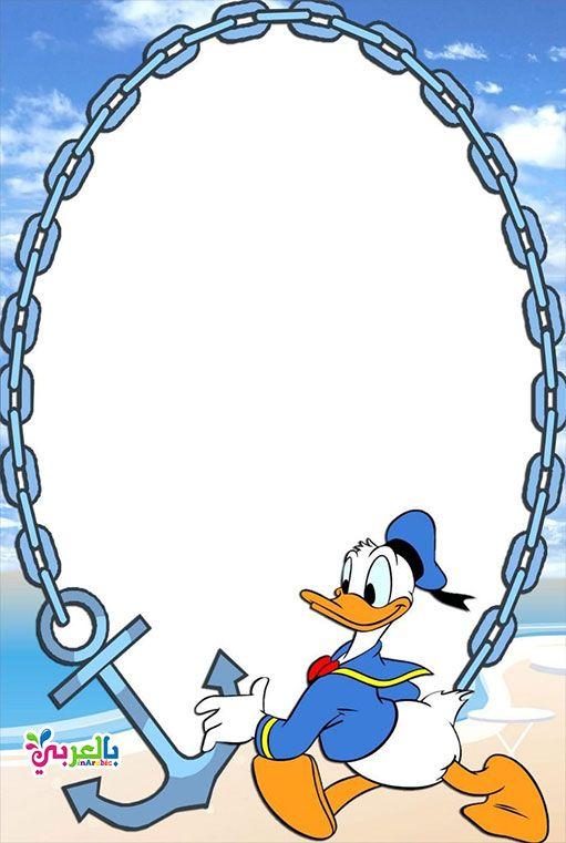 Free Printable Disney Borders And Frames بالعربي نتعلم Disney Scrapbook Disney Frames Disney Project Life