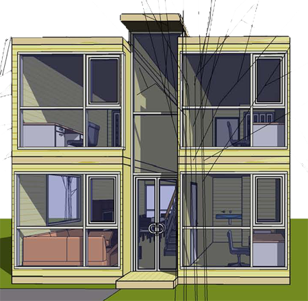 Plan de maison container maison design for Maison container 50 m2