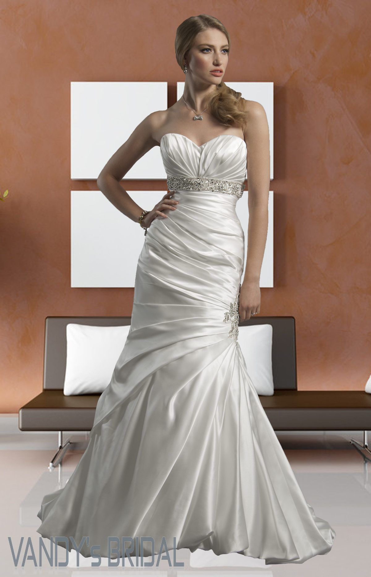 Mermaid Wedding Dresses 2013 | 2013 Trumpet / Mermaid Style Sweetheart  Neckline Sleeveless Chapel .