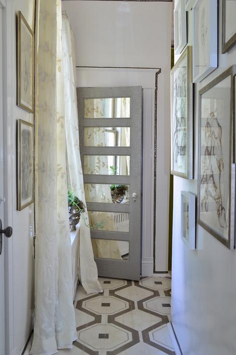 Mirrors Added To Paneled Door Doors Windows Transformed