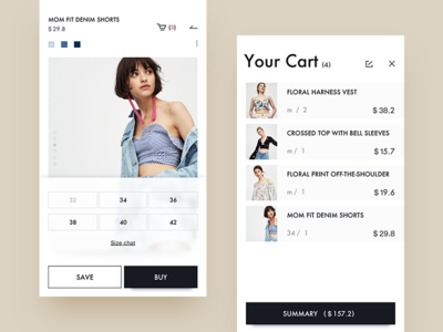 pull&bear  redesign / cart