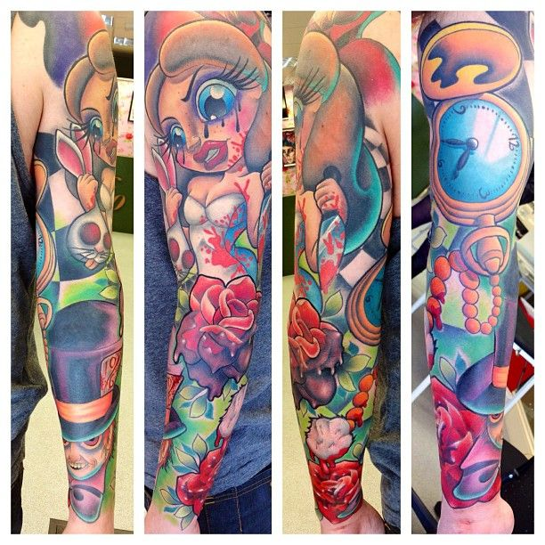 New School Color Tattoo oh wow this is amazing artwork