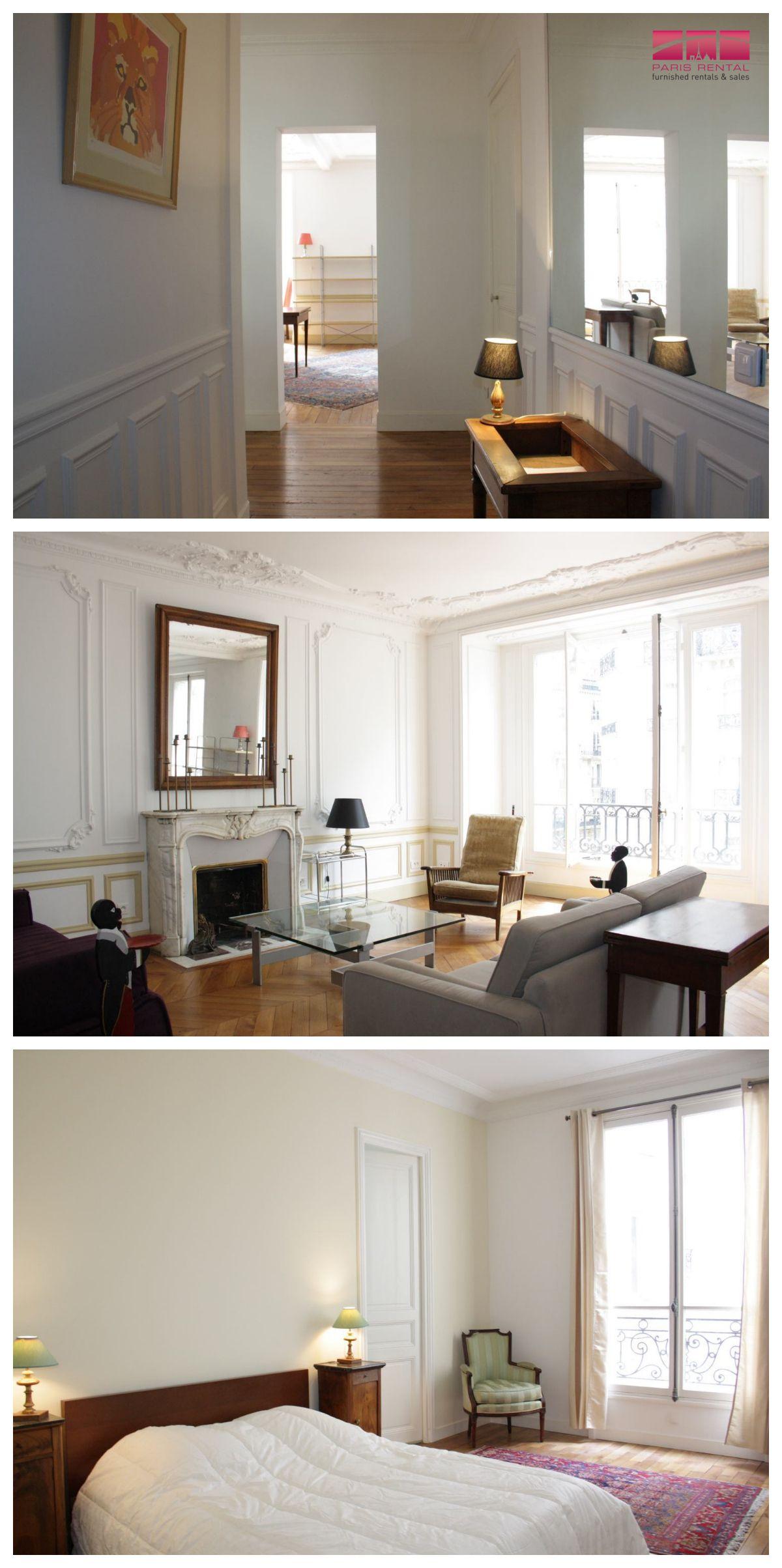 2 bedroom interior design modern furnished bedroom in the th arrondissement lots of sun