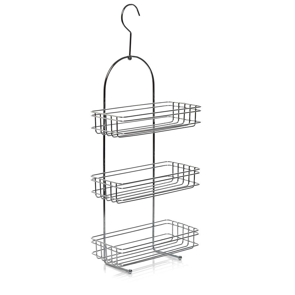 Wilko Shower Caddy 3 Tier Chrome Effect Perfect for all the junk ...
