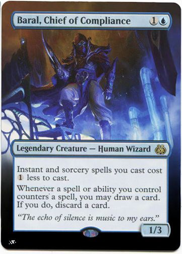 CHIEF OF COMPLIANCE Aether Revolt MTG Blue Creature — Human Wizard Rare BARAL