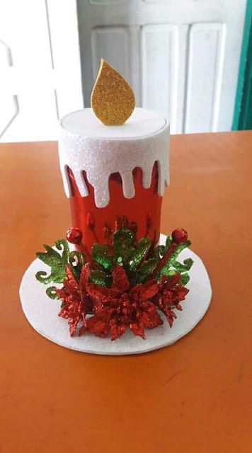 Curso fácil para hacer velas navideñas con foami y cartón ~ Solountip.com #manualidadesnavideñas