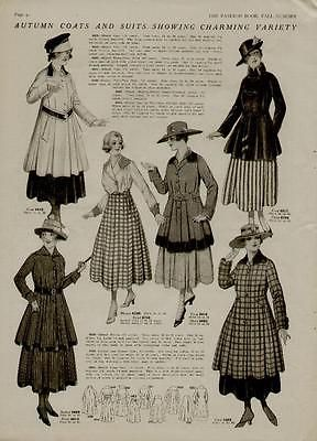 1915 TWO PAGES FASHION STYLES / AUTUMN COATS & SUITS SHOWING CHARMING VARIETY | eBay
