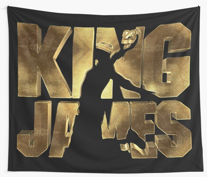 1eda9ced1f1 LA King James 23 Golden Wall Tapestry Small • Also buy this artwork on home  decor, apparel, stickers, and more #23 #james #lebron #king #kingjames # lakers ...