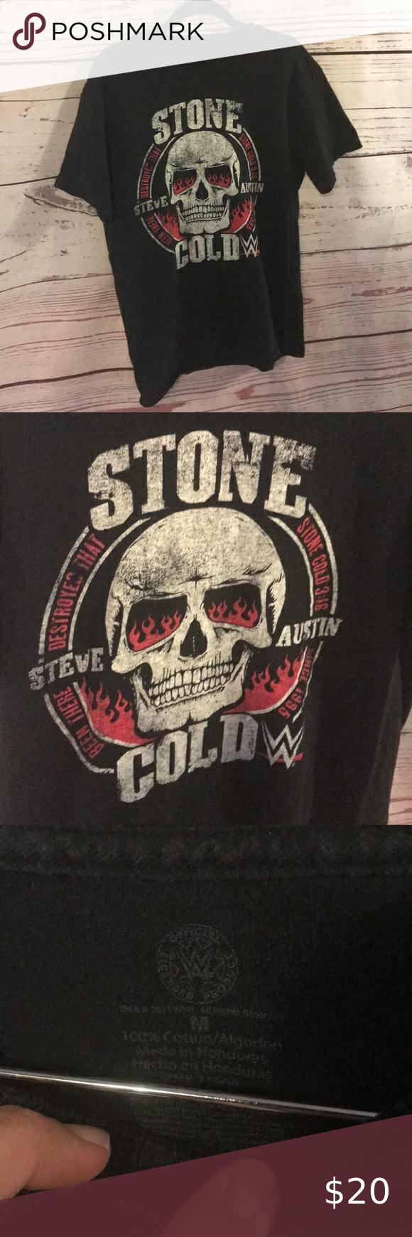 Stone Cold Steve Austin T Shirt In 2020 Stone Cold Steve T Shirt Wwe Shirts