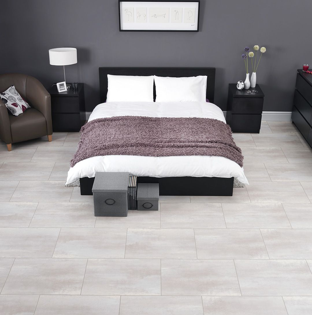 Who says you can't do a stone look in your bedroom.