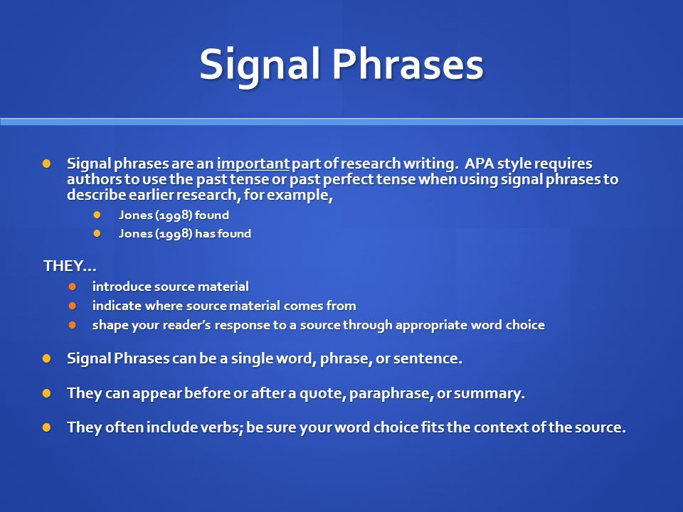 Image Result For Phrase To Start A Paragraph About Research Perfect Tense Past How Signal Begining Of Paraphrase