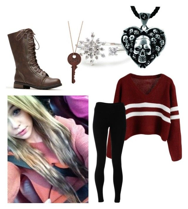 """im back"" by jadelynn1313 ❤ liked on Polyvore featuring Brinley Co and Solow"