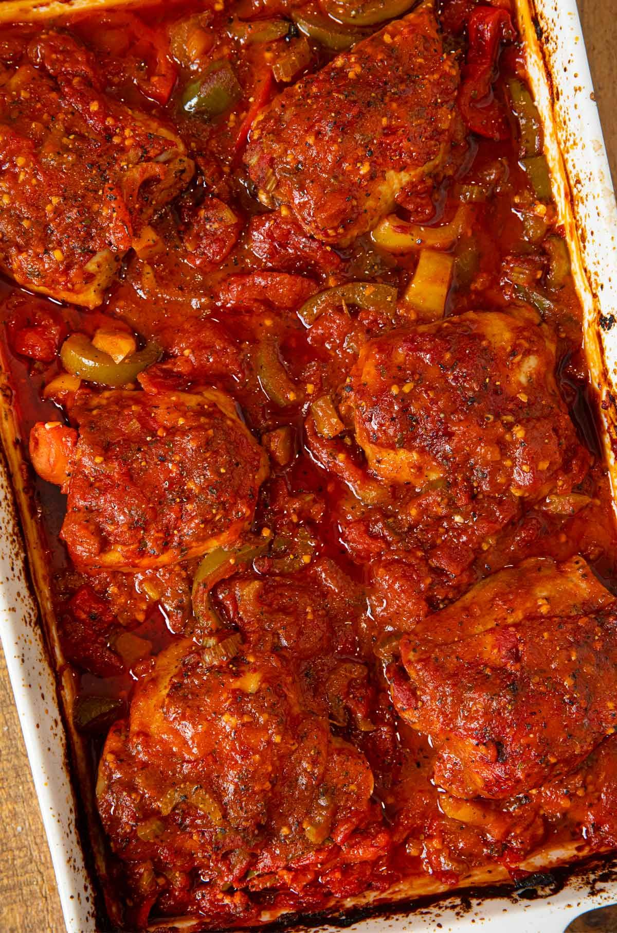 Photo of Baked Chicken Cacciatore Recipe – Dinner, then Dessert
