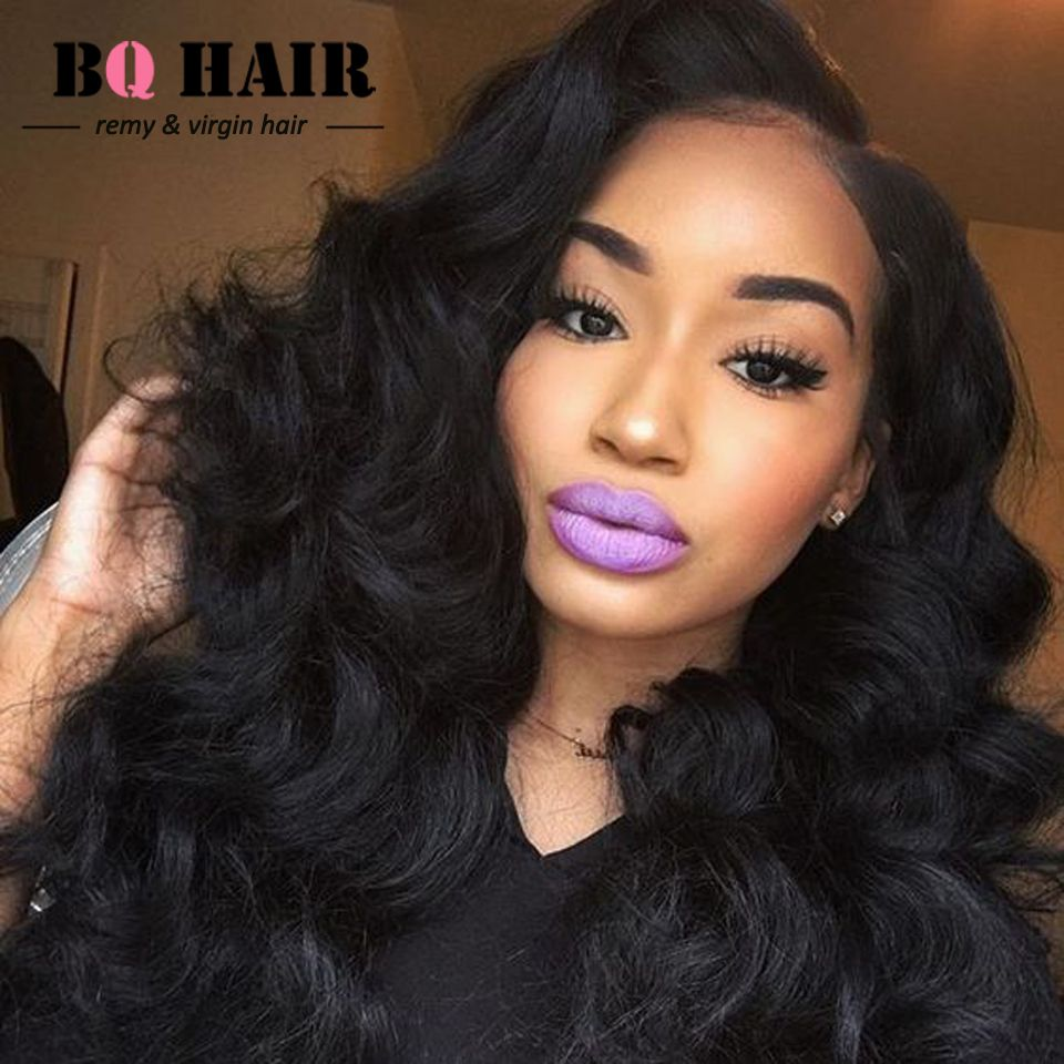 bq hair mink 8a body wave peruvian 360 lace frontal with bundle