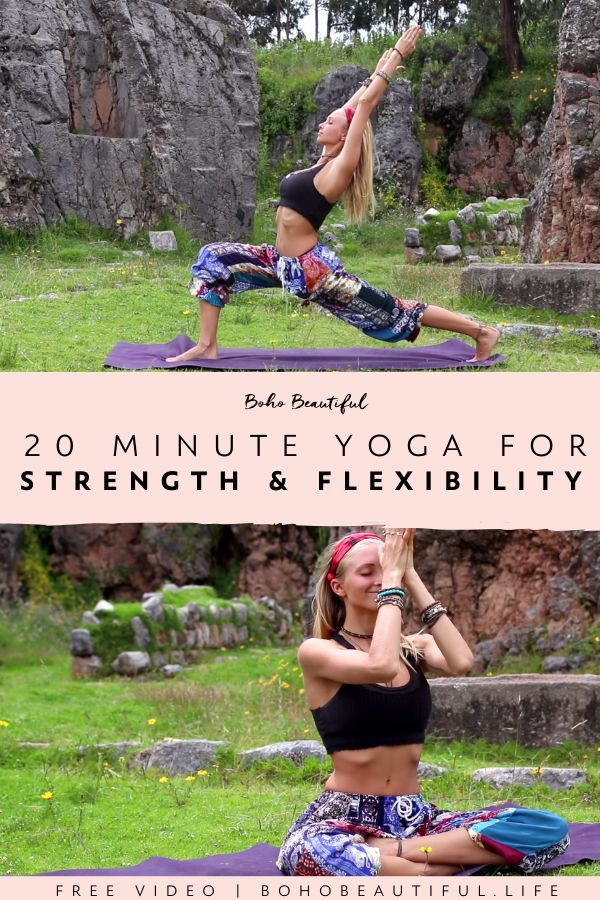A 20 minute Advanced Yoga Class for Strength and Flexibility | Boho Beautiful | This FREE yoga class...