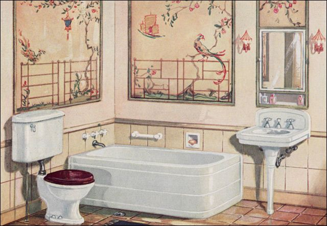 1920s home bathroom on pinterest 1920s bathroom 1920s for 1920s bathroom designs