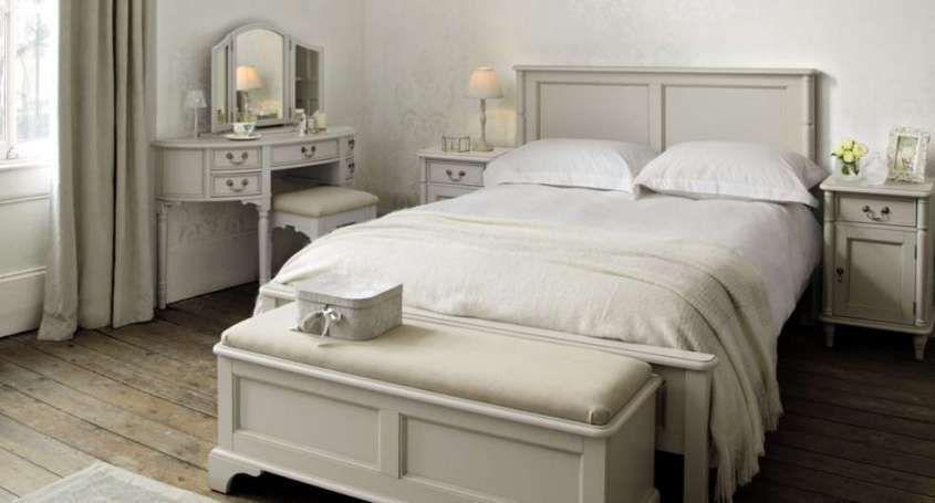 camera da letto color tortora - Camera da letto shabby chic
