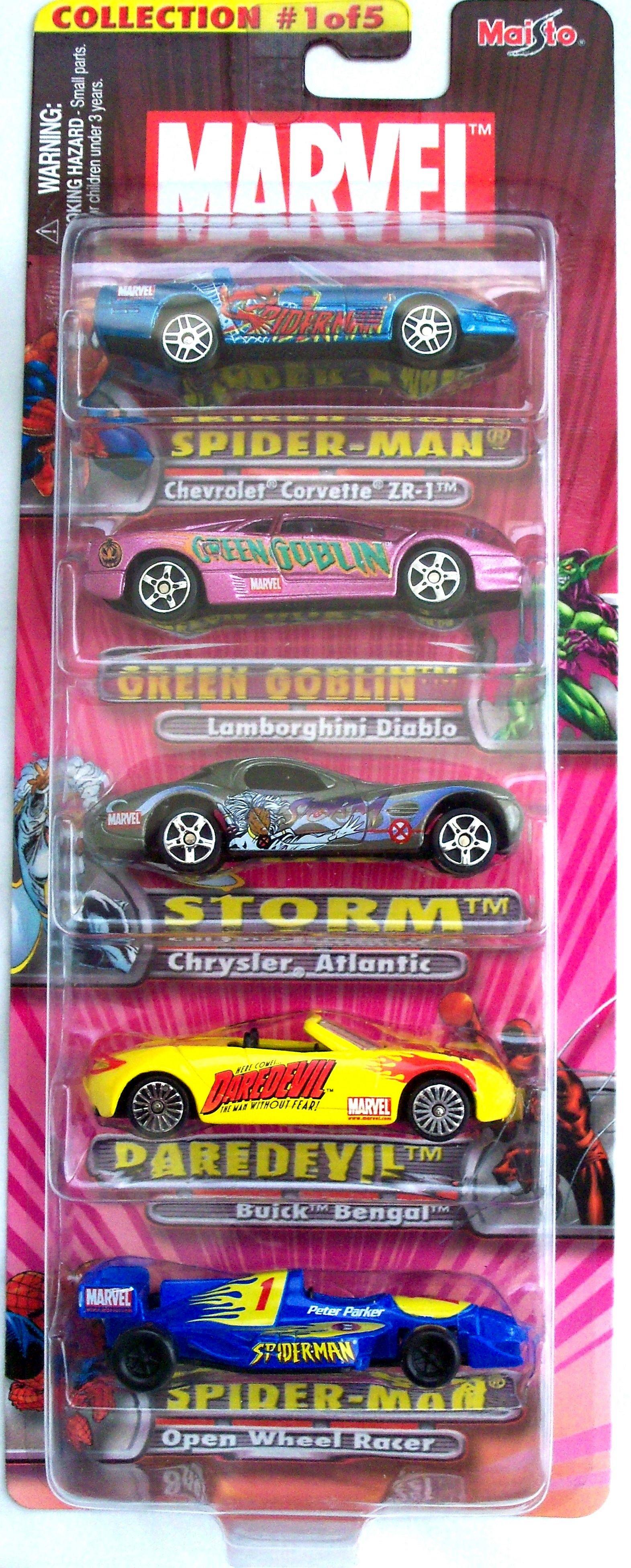 2002 Marvel Die Cast Car Set Collection 1 Of 5 Maisto Diecast Car Set Diecast Cars