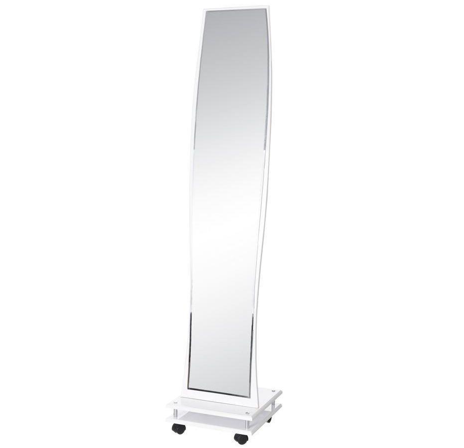 Espejo Vestidor en DM Blanco con Ruedas 36 x 36 x 166,5 cm | Cuadros ...