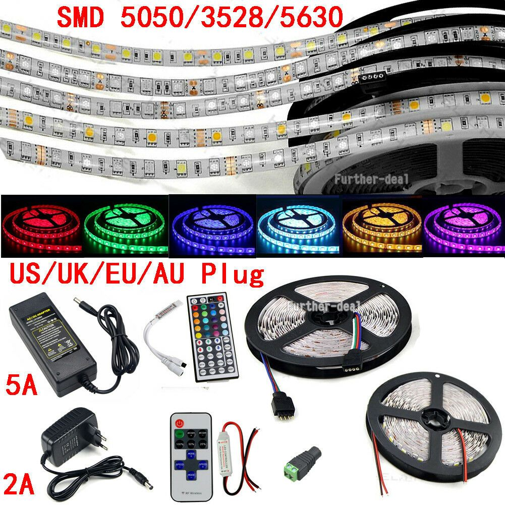 "12V 21-132 LED 5630 Aluminum Strip Super Bright Under Cabinet Lights 12/"" 72/"""