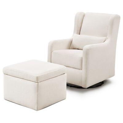 Awesome Carters By Davinci Adrian Swivel Glider In Cream With Creativecarmelina Interior Chair Design Creativecarmelinacom