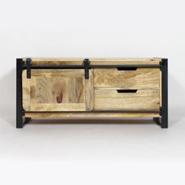 meuble tv industriel new york 1 porte mr4