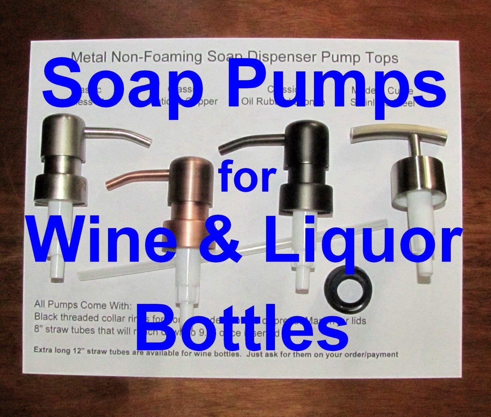 Details About Soap Dispenser Pump Replacement Wine Liquor Bottle